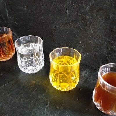 Grape marc spirits and liqueurs